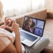 socially connected through virtual visits