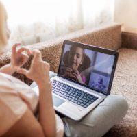socially connected through virtual visits